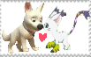 Bolt And Gatomon Stamp by lopez765