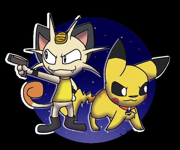 meowth and pikachu (Poke-final space)