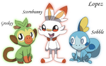 Pokemon Gen 8 Starters (Galar)