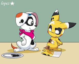 A Finished Art (Pikachu Dalmatian) by lopez765
