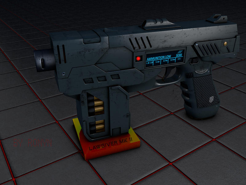 Dredd gun by The-Ronyn