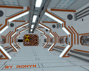 Corredor  sci-fi by The-Ronyn