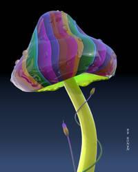 Glass Mushroom by The-Ronyn
