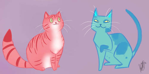 Shapey Cats Day 16 by TheMeltingMoon