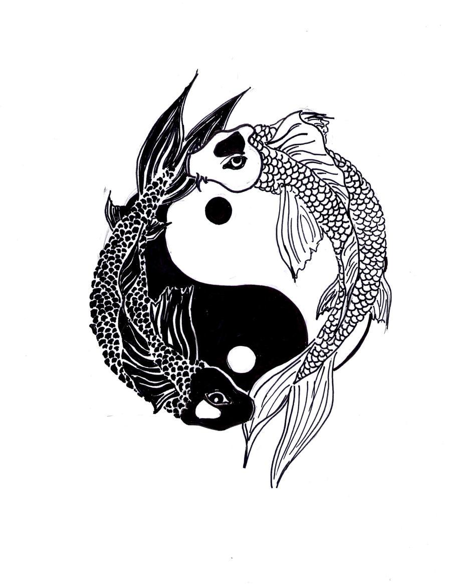 yin and yang koi by ali san13 on deviantart. Black Bedroom Furniture Sets. Home Design Ideas