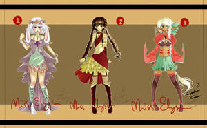Adoptable Batch #3  [CLOSED] by MissElysium