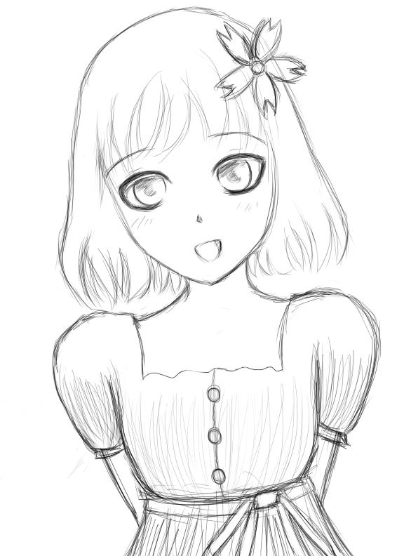 Little Girl Drawing WIP By MidnightMiku On DeviantArt