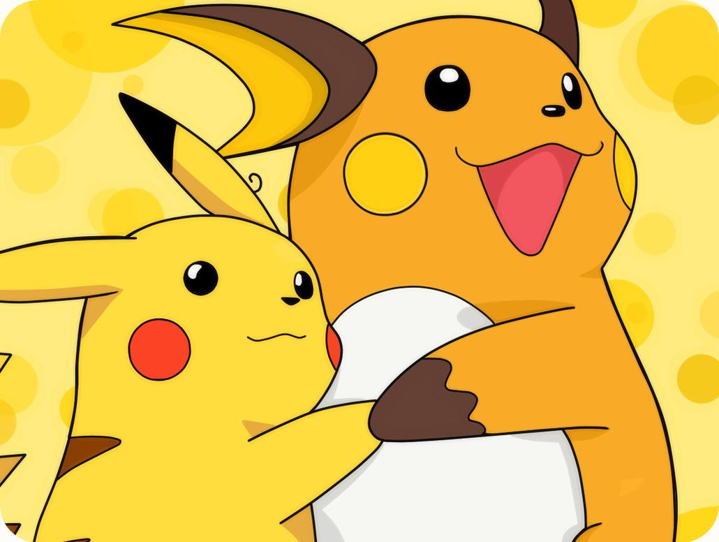 Pikachu and Raichu by SonGohanZ on DeviantArt