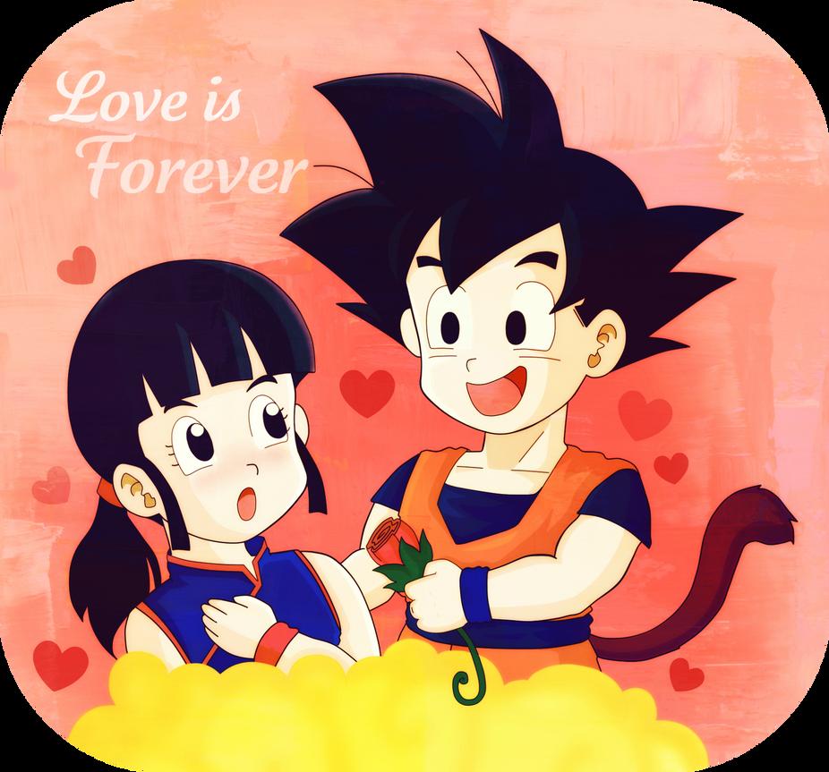 Milk y Goku by SonGohanZ