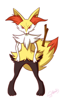 Pokemon Fennekin Official Evolution by SonGohanZ