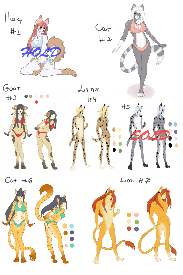 Adoptables new year promotion ~ by Line-arts