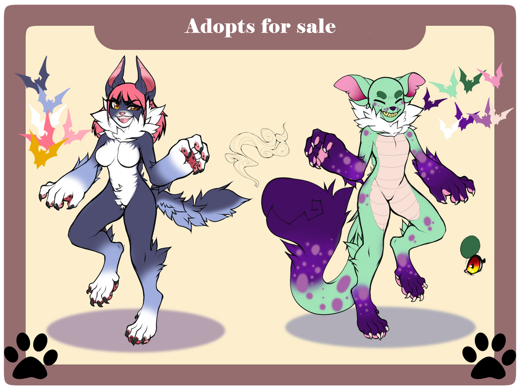 Halloween Adopts !  Auction OPEN! SB: $10 by Line-arts