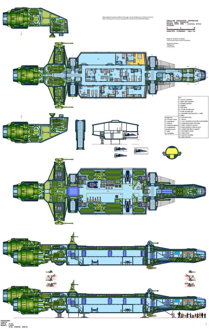 Yz 775 Update 171145144 on Spaceship Deck Plans
