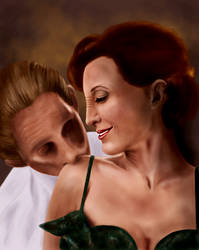 Kira and Odo by GrayscaleArt
