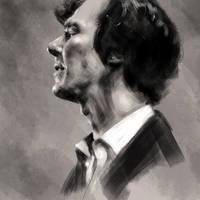 Benedict Cumberbatch by GrayscaleArt