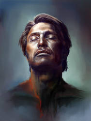 Mads Mikkelsen by GrayscaleArt