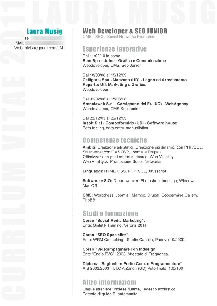 web design musig resume by creepy on deviantart