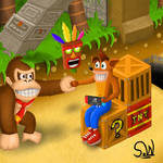 Donkey Kong meets Crash Bandicoot