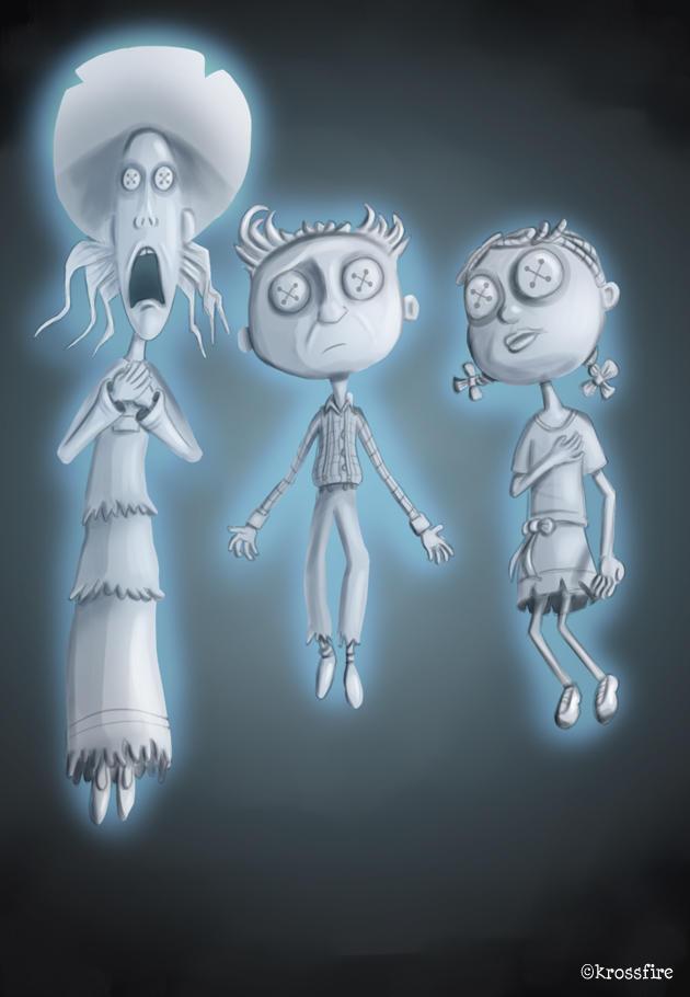 Coraline Three Ghost Children By Kroizat On Deviantart