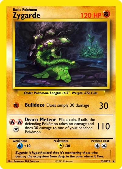 Zygarde Pokemon Card by AFellowAdventurer on DeviantArt