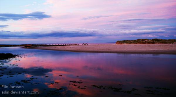Scotland sunset by Ajlin