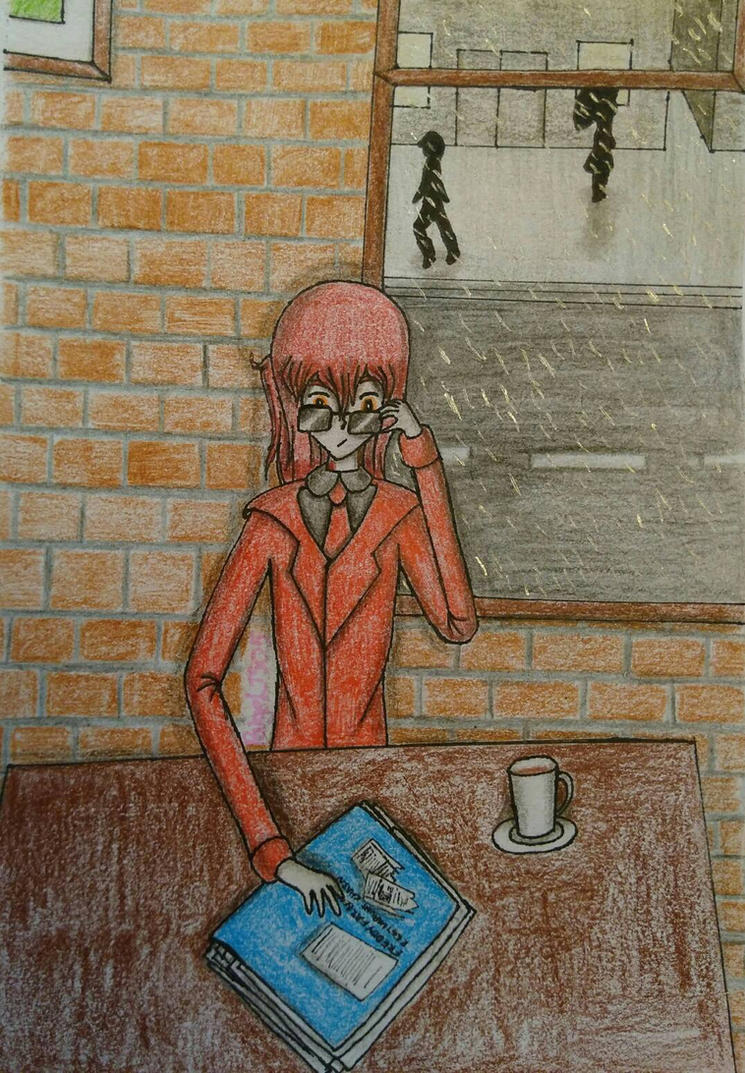 FNAF - A cafe meeting with Phone Guy by PaigeLTS05