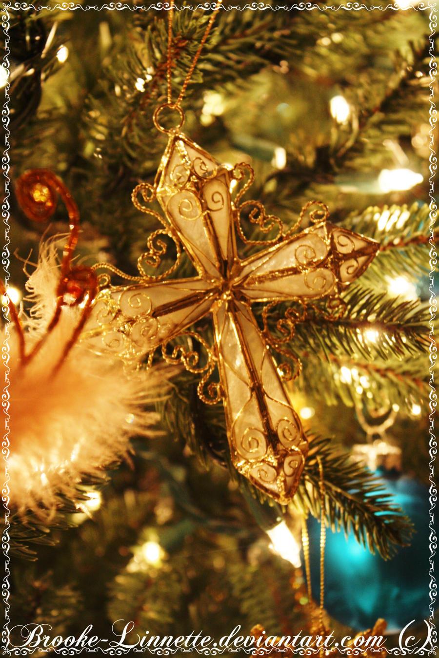 Cross Christmas Ornament
