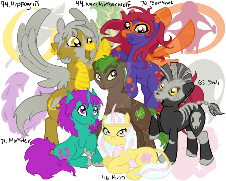 MLP:FIM 100 DC: Creature Feature By SpatialHeather On