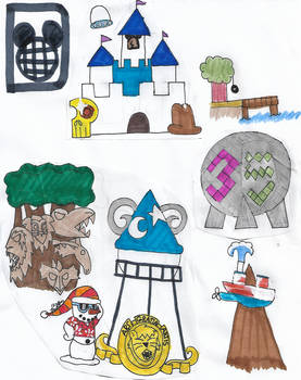 Disney World Map Collage