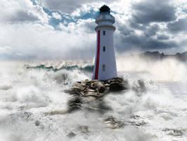 Celestial Lighthouse by HeroinForMyHeroine