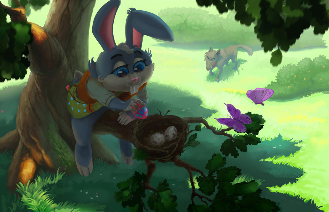 Easter Bunny by Kroatosh