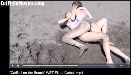Wet Sticky Sandy Catfight by westcat