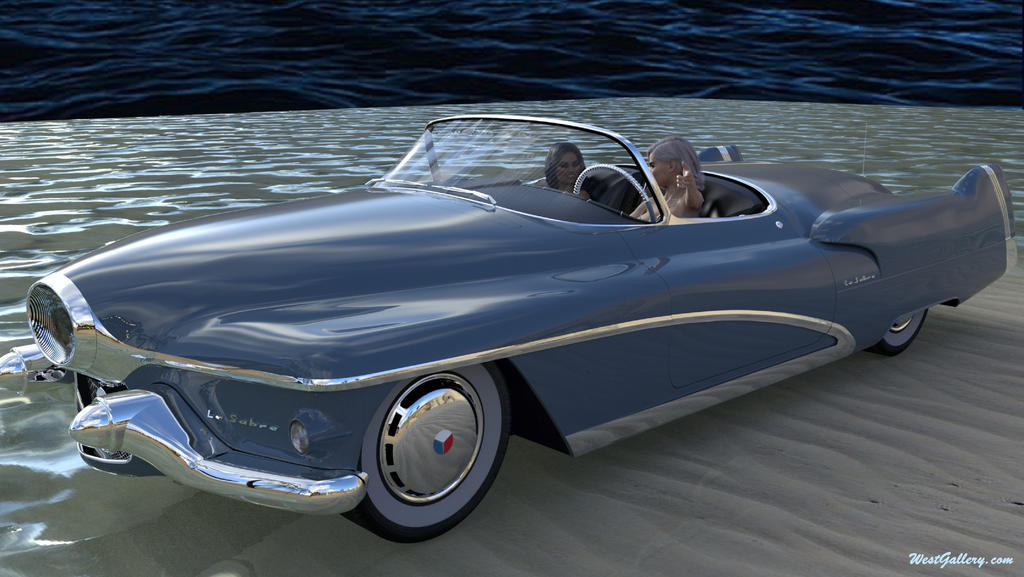 BUICK LE SABRE 1951 drives in two CatFighters