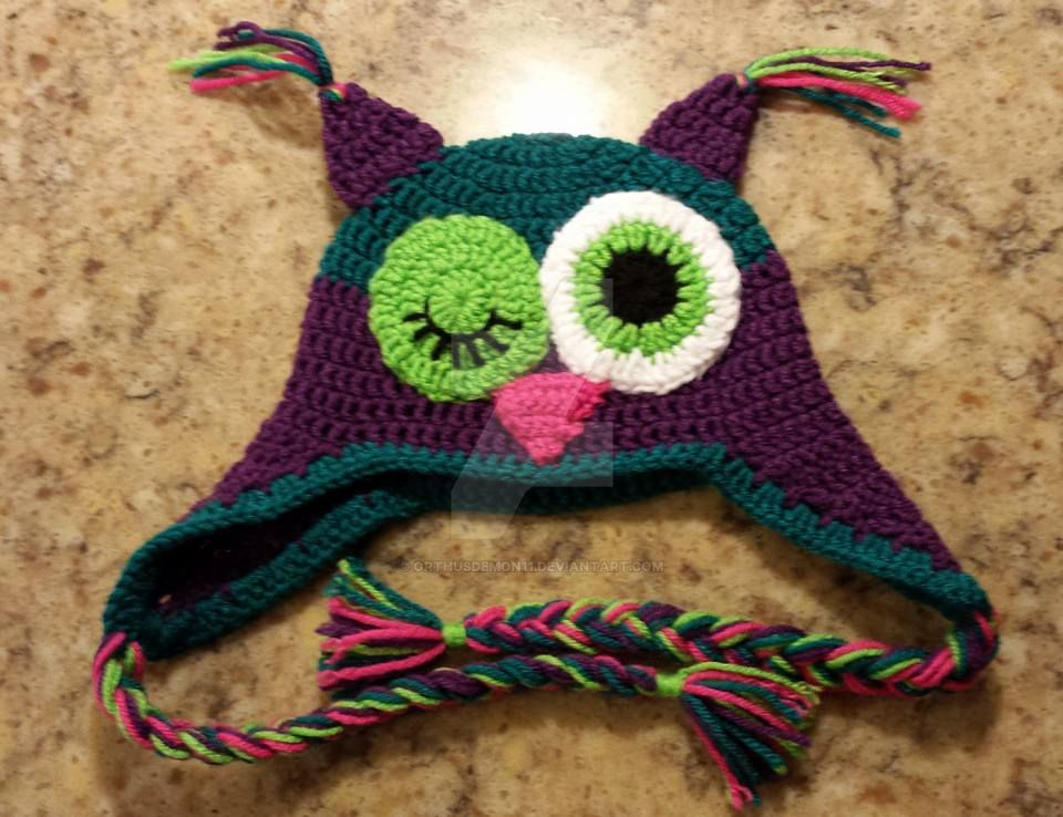 Crochet Owl Hat Custom Order by OrthusDemon11 on DeviantArt