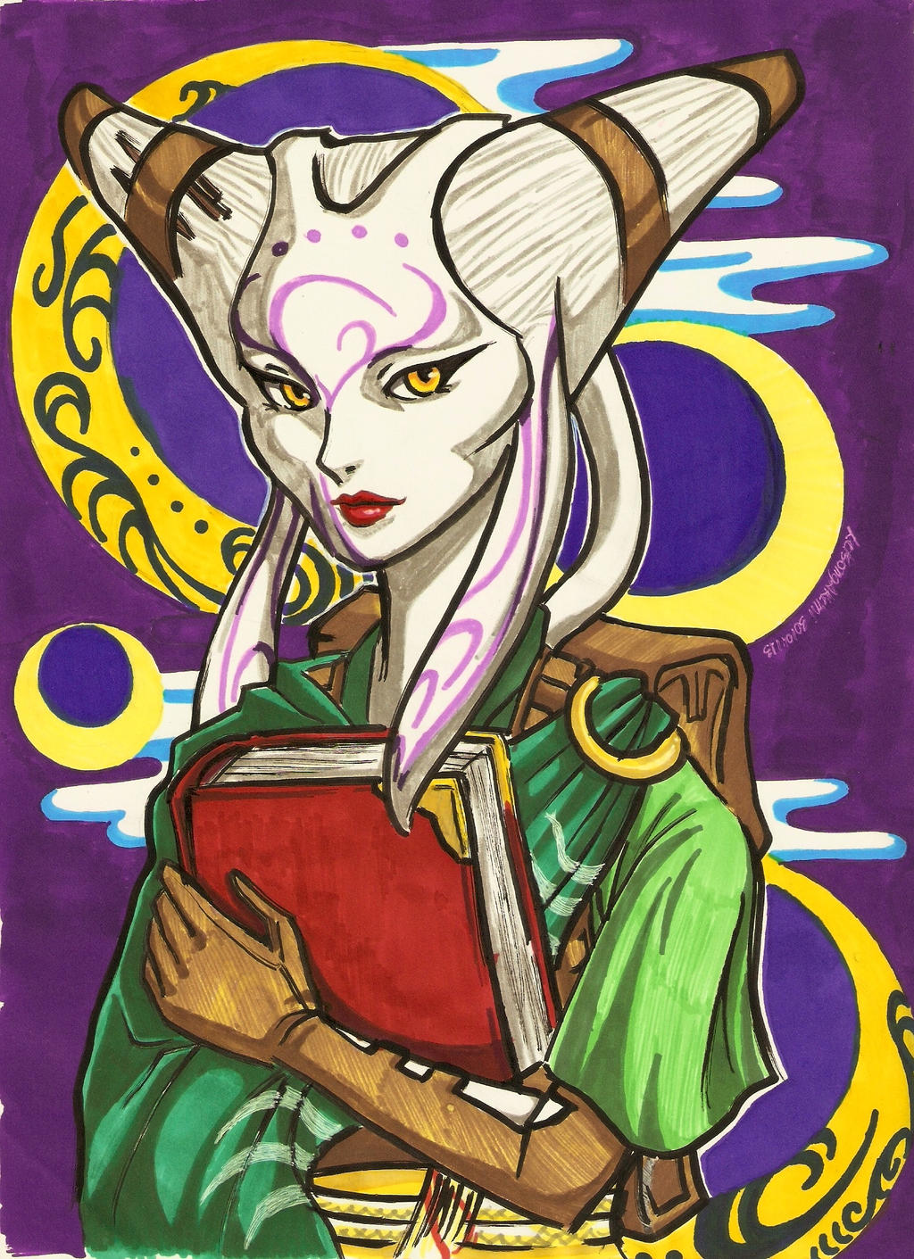 MTG's Tamiyo, the Moon Sage - Markers by LetsongAkemi