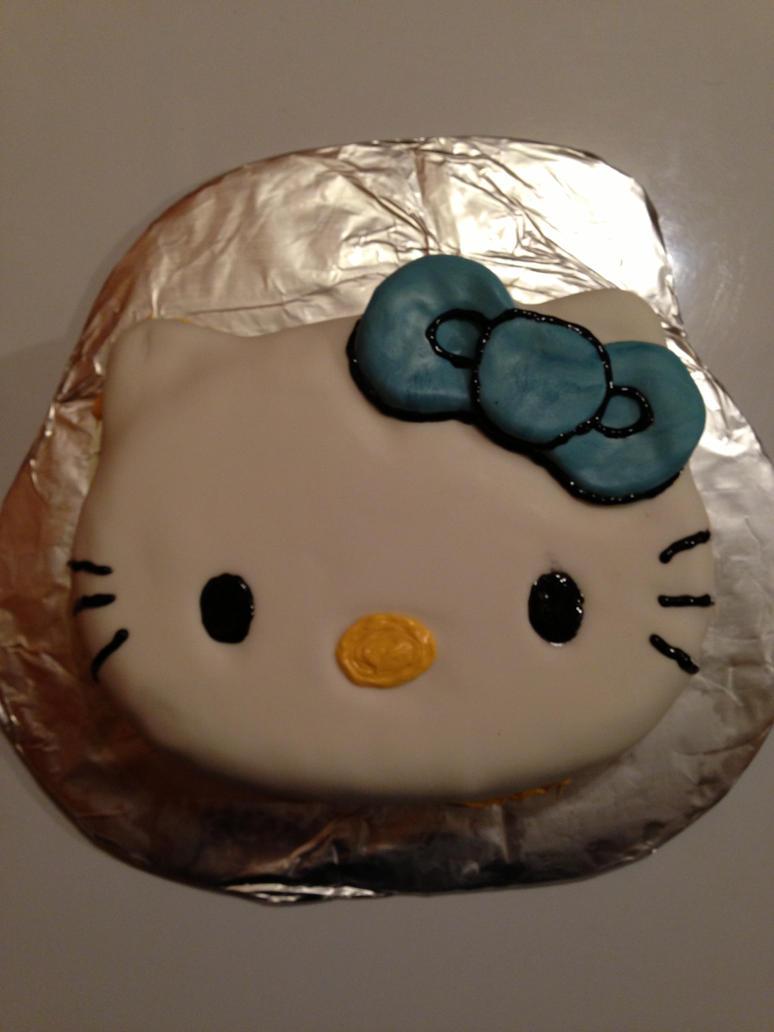 Cake Hello Kitty Blue : Hello Kitty Cake (Blue Bow) by KaylaDaSupergirl on DeviantArt