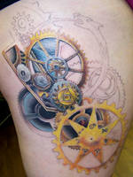 My Steampunk Alchemy Tattoo by sevyntnein