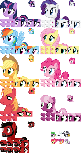 Mlp 16 32 Bit Charater Sprite Templates V1 01 By Walrusinc