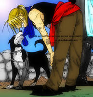 .:Edward Elric and Den:. by Wolfs-Angel17