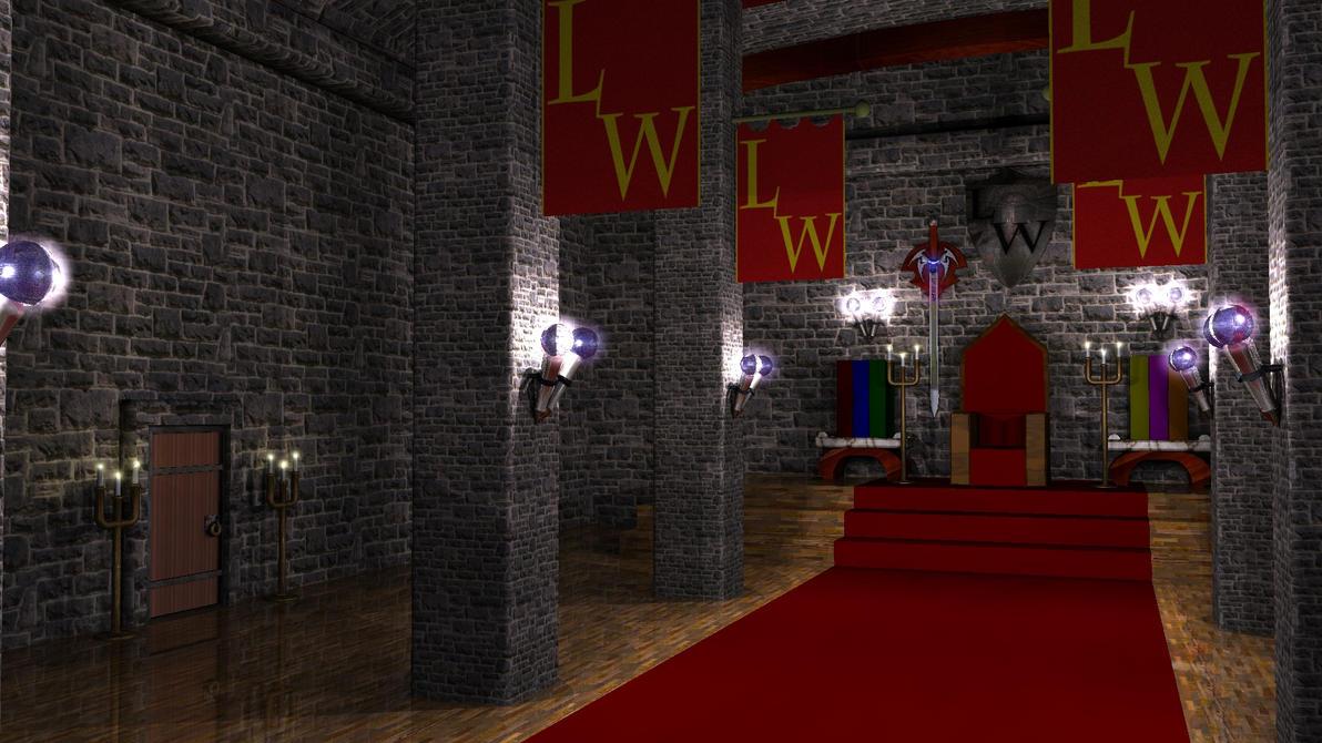 Dark castle throne room throne room by redwizard000