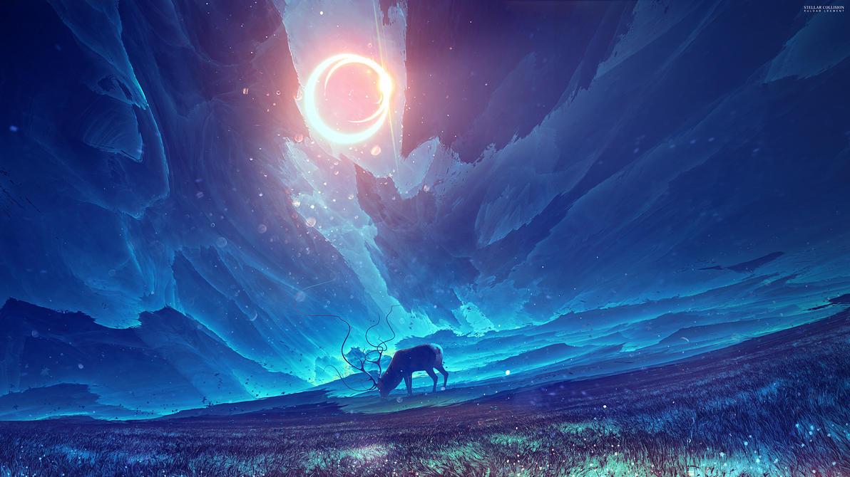 Stellar collision by KuldarLeement