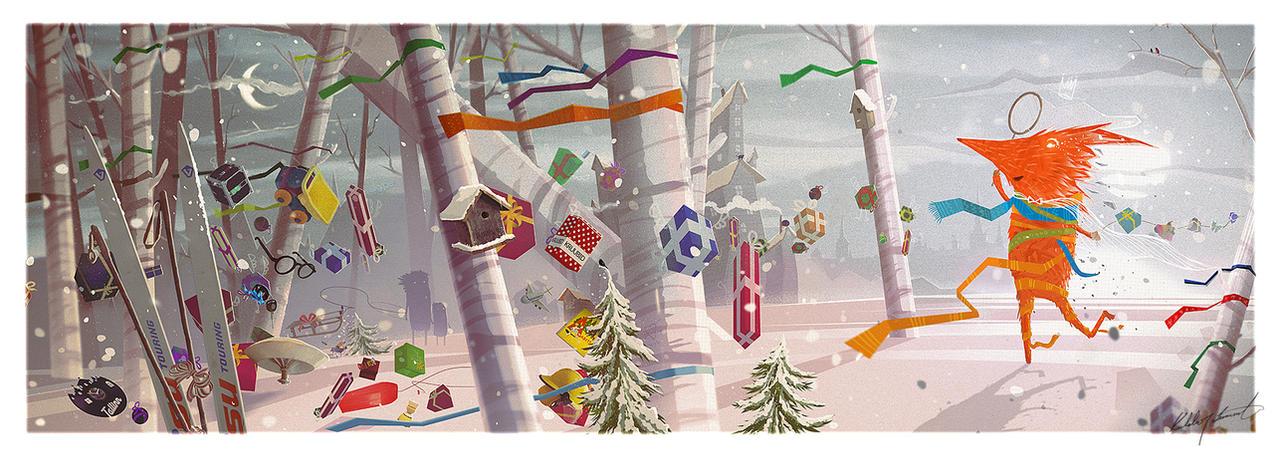 Christmas card for president of Estonia by KuldarLeement