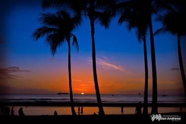 Sunset Waikiki by andmil