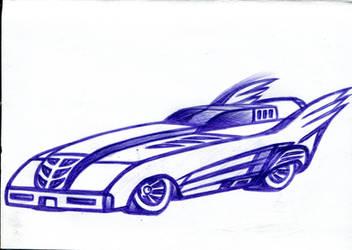 The Batmobile Art 1 by ArtConcept777