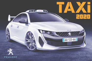 Peugeot 508 Taxi '2020 Ver. 1 Fan Art by ArtConcept777