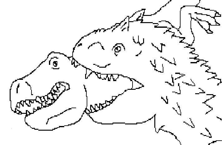 indominus rex coloring page - rex vs indominus coloring pages sketch coloring page