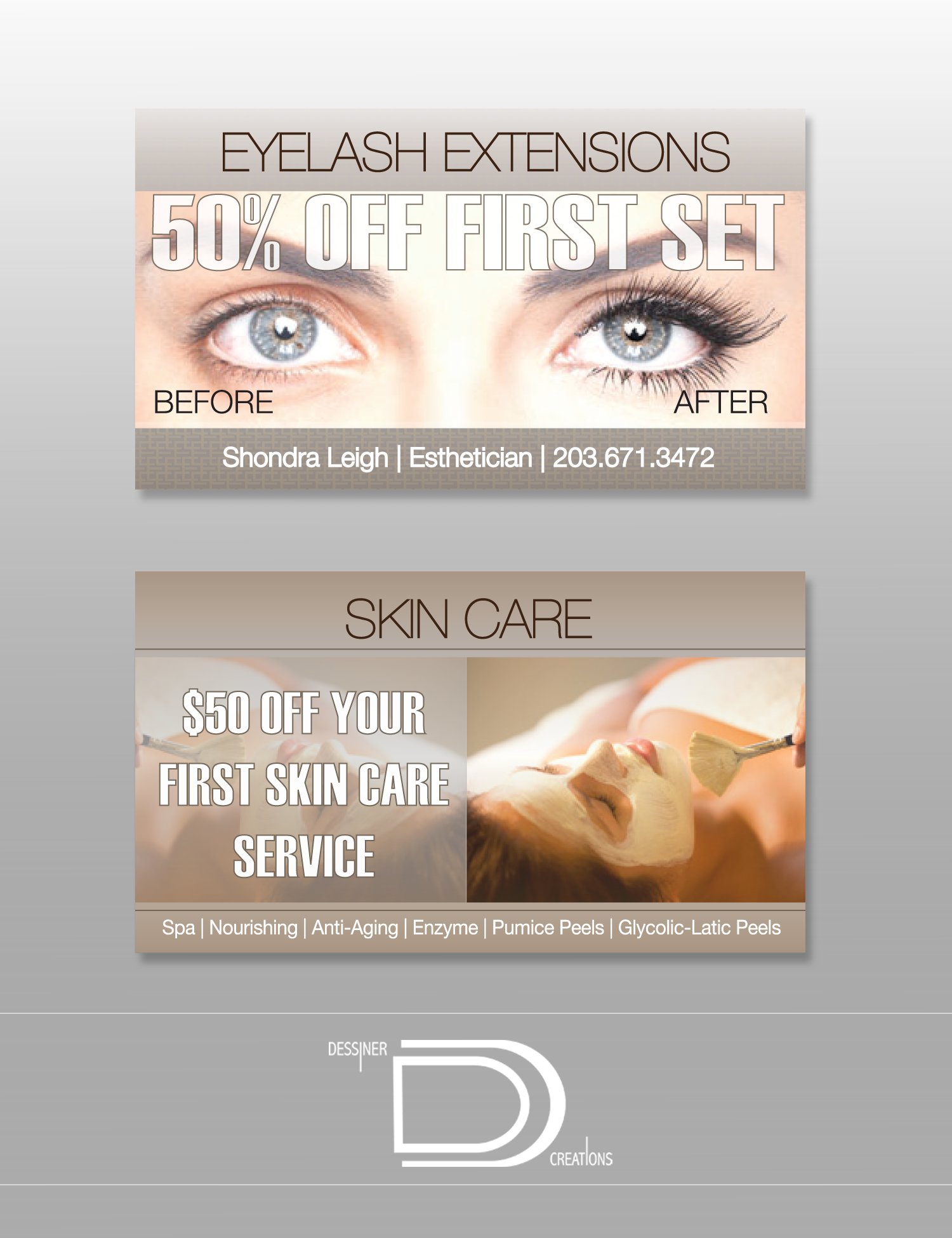 Eyelash Ext Business Card v2 by just is on DeviantArt