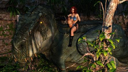 T-rex relax by Flamewalker1984