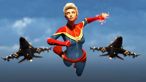 Captain Marvel on her Way