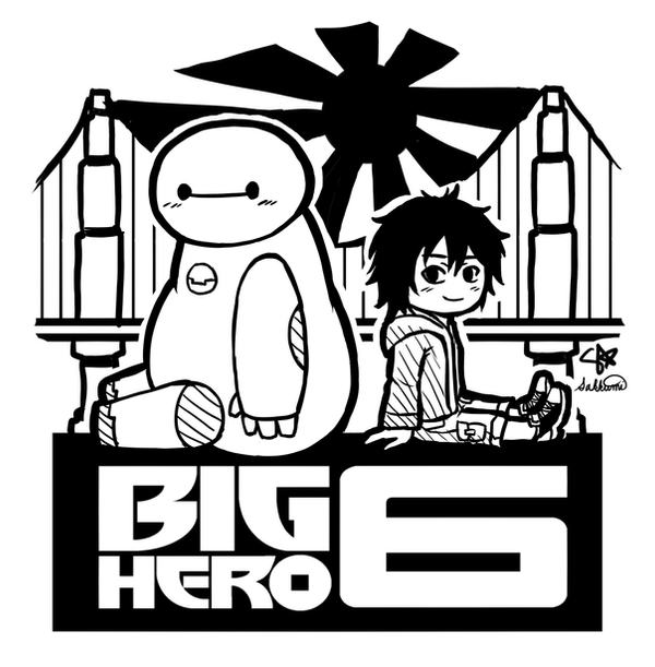 Big Hero 6 - Baymax and Hiro by sakurasamichan